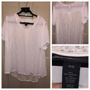 Lane Bryant Top with Lace Back